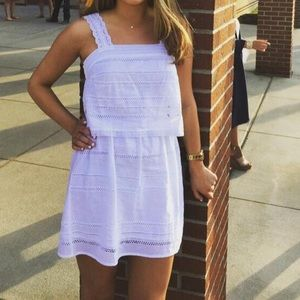 white top shop two tiered dress